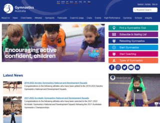 gymnastics.org.au screenshot