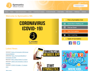 gymnasticswa.asn.au screenshot