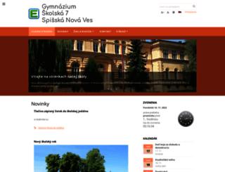 gymsnv.edupage.org screenshot