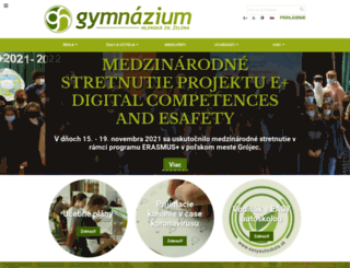 gymza.edupage.org screenshot