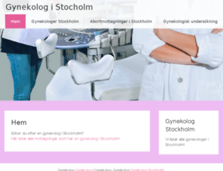 gynekologistockholm.se screenshot