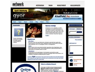 gyor.network.hu screenshot