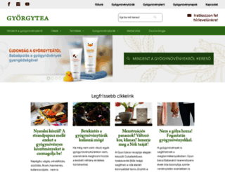gyorgytea.hu screenshot