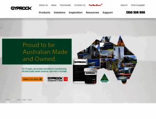 gyprock.com.au screenshot