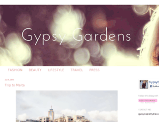 gypsygardens.blogspot.com screenshot
