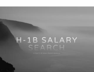 h1bsalary.com screenshot