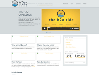 h2oride.org screenshot