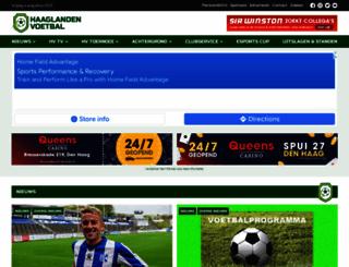 haaglandenvoetbal.nl screenshot