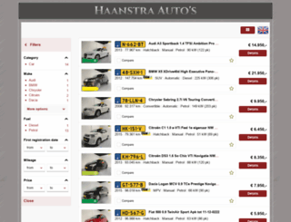 haanstra-autos.nl screenshot