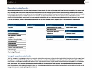 haarprodukten.nl screenshot