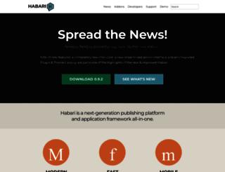 habariproject.org screenshot