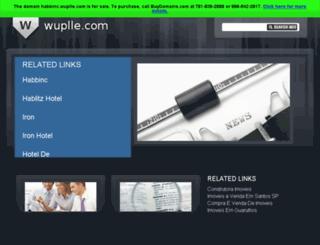 habbinc.wuplle.com screenshot