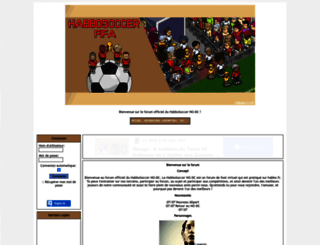 habbosoccer.kanak.fr screenshot