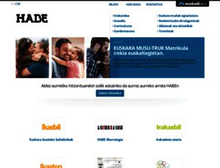 habe.euskadi.net screenshot