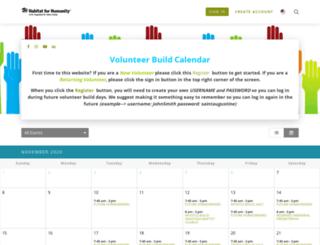 habitatstaugustine.volunteerhub.com screenshot