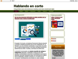 hablandoencorto.blogspot.mx screenshot