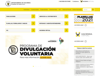hacienda.gobierno.pr screenshot