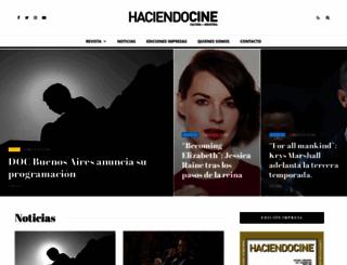 haciendocine.com.ar screenshot