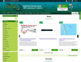 hacik.sk screenshot