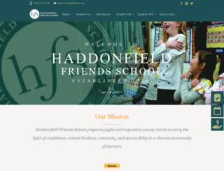 haddonfieldfriends.org screenshot