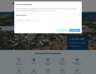 hafen-wismar.de screenshot