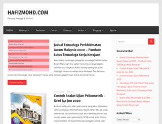hafizmohd.com screenshot