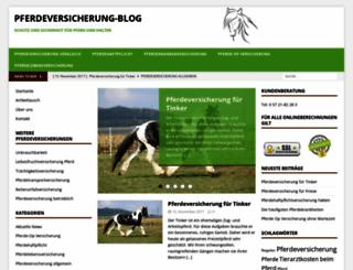 haftpflichtversicherungpferd.com screenshot