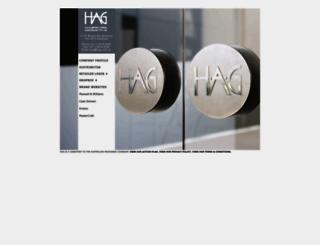 hag.com.au screenshot