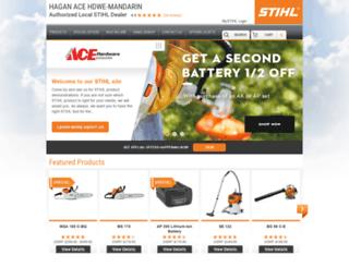haganacehardwaremandarin.stihldealer.net screenshot