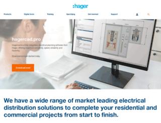 hager.co.uk screenshot