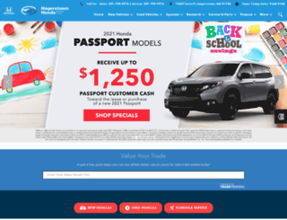 hagerstownhonda.com screenshot