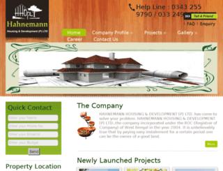 hahnemannhousing.in screenshot