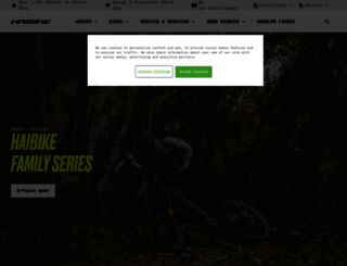 haibike.de screenshot
