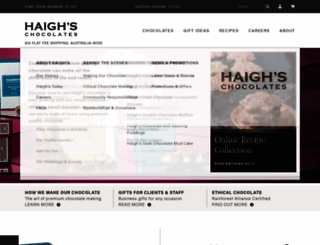 haighschocolates.com.au screenshot