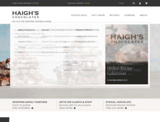 haighschocolates.com screenshot