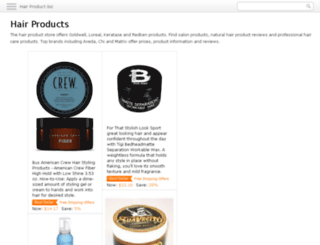 hair-product.biz screenshot