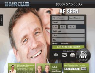 hairclubsolutions.com screenshot