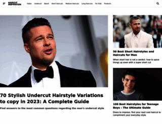 haircutinspiration.com screenshot