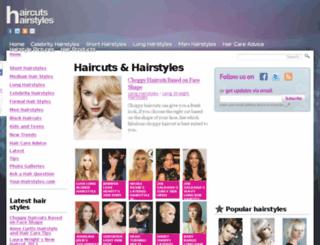 haircutshairstyles.com screenshot