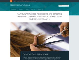 hairdressing.ac.uk screenshot
