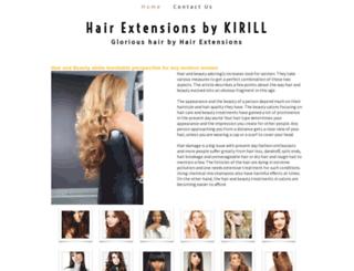 hairextensionsbykirill.yolasite.com screenshot