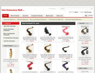 hairextensionsmall.com screenshot