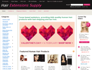 hairextensionssupply.com screenshot