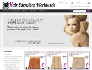 hairextensionsworldwide.com screenshot