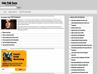 hairfallguru.com screenshot