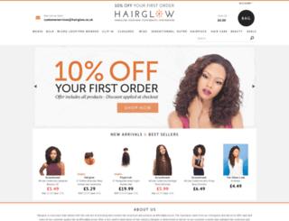 hairglow.co.uk screenshot