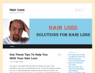 hairloss707.wordpress.com screenshot