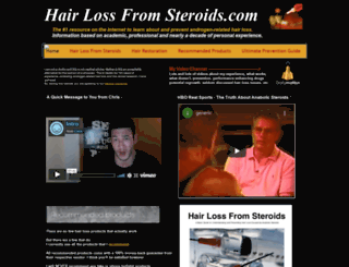 hairlossfromsteroids.com screenshot