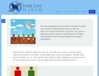 hairlosshaven.com screenshot