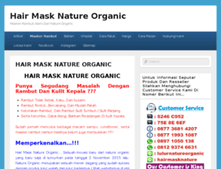 hairmasknatureorganic.com screenshot